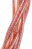 Coaxial cables braided copper Stock Images