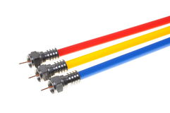 Coaxial cables with connectors Stock Image