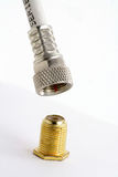 Coaxial connector Royalty Free Stock Images