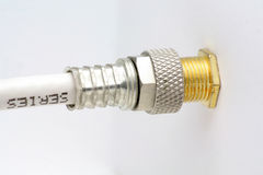 Coaxial connector Royalty Free Stock Photo