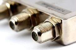 Coaxial connector close up, Stock Images