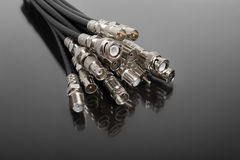 Coaxial connectors Royalty Free Stock Photo