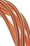 Coaxial copper lines Royalty Free Stock Image