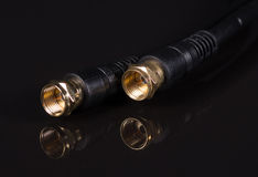 Coaxiale kabels Royalty-vrije Stock Afbeeldingen