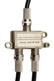 Coaxiale kabelsplitser royalty-vrije stock foto