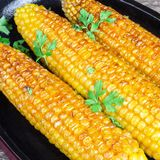 On the cob grilled corn Stock Photo