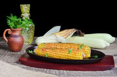 On the cob grilled corn Royalty Free Stock Images