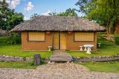 Cob house with garden in Northern Thailand Stock Photos