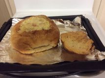 Cob loaf dip Royalty Free Stock Images