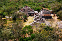 Coba, Mexico. Aerial view of ancient mayan city in Mexico Royalty Free Stock Photography