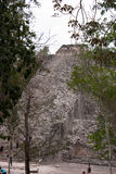 coba piramids废墟 免版税库存照片