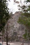 Coba piramids en ruïnes royalty-vrije stock foto