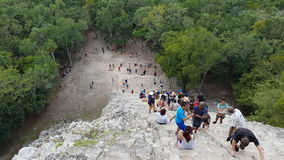 The coba pyramid, mexico Stock Image