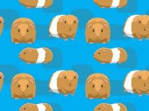 Cobaia bonito Teddy Cartoon Background Seamless Wallpaper ilustração royalty free