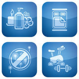 Cobalt 2D Squared Icons Set: Hotel stock images