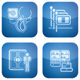 Cobalt 2D Squared Icons Set: Hotel Stock Photography