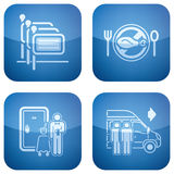 Cobalt 2D Squared Icons Set: Hotel Stock Image