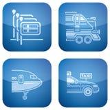 Cobalt 2D Squared Icons Set: Hotel Stock Photos