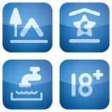 Cobalt 2D Squared Set: Camping Stock Images
