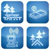 Cobalt 2D Squared Set: Camping Stock Photos