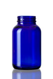 Cobalt blue bottle opened Royalty Free Stock Photos