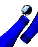 Cobalt Blue Bottles and Cap royalty free stock photo