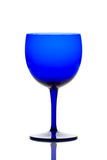Cobalt blue drinking glass Stock Photos