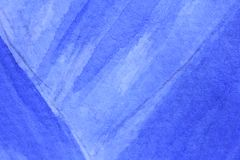 Cobalt Blue Hue Watercolor Background 11. Macro photo of beautiful blue watercolor texture design Stock Photo