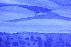 Cobalt Blue Hue Watercolor Background 8 Stock Image