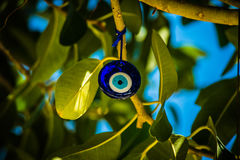 Cobalt blue Lindos Eye Royalty Free Stock Photography