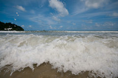 The cobalt blue sea and blue sky of koh payam ranong thailand Royalty Free Stock Photo