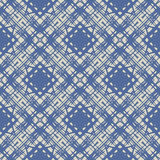 Cobalt blue simple linear geometric pattern Royalty Free Stock Image