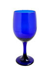 Cobalt blue wine glass Stock Image
