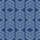 Cobalt Shirt Repeat Vector Seamless Pattern. Ink
