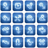 Cobalt Square 2D Icons Set Stock Image