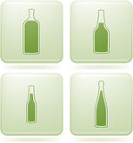 Cobalt Square 2D Icons Set: Alcohol bottles Stock Photos