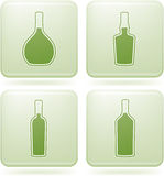 Cobalt Square 2D Icons Set: Alcohol bottles Royalty Free Stock Photography