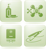 Cobalt Square 2D Icons Set: Bathroom Stock Images