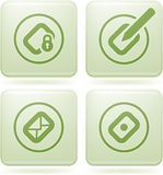 Cobalt Square 2D Icons Set: Computer File Types Royalty Free Stock Photo