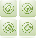 Cobalt Square 2D Icons Set: Computer File Types Stock Photos