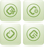 Cobalt Square 2D Icons Set: Computer File Types Royalty Free Stock Photos