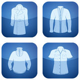 Cobalt Square 2D Icons Set: Man's Clothing Royalty Free Stock Image