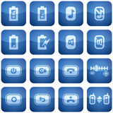 Cobalt Square 2D Icons Set: Phone display Royalty Free Stock Photo
