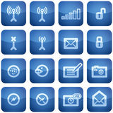 Cobalt Square 2D Icons Set: Phone display Royalty Free Stock Image