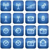 Cobalt Square 2D Icons Set: Phone display Royalty Free Stock Image