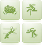 Cobalt Square 2D Icons Set: Sport Royalty Free Stock Images