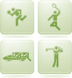 Cobalt Square 2D Icons Set: Sport Stock Photos