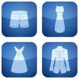 Cobalt Square 2D Icons Set: Woman's Clothing Stock Image