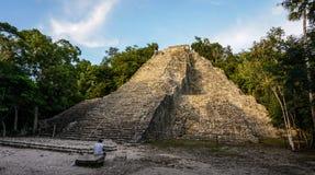 Cobamaya tempel in Yucatan, Mexico stock foto