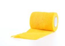 Coban amarelo, envoltório da atadura Fotos de Stock Royalty Free